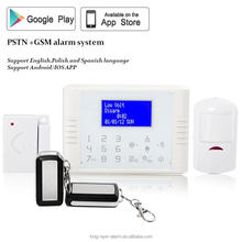 LCD home electrical appliance control latest best selling 868mhz/433mhz wireless gprs monitoring security alarm system