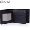 New black RFID blocking leather men's rfid wallet