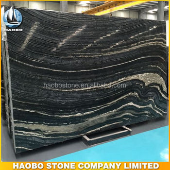 Factory Direct Wholesale Silver Black Marble Slabs