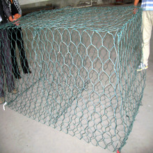 Woven Gabion Cage Stone Hexagonal Wire Mesh Wall Gabion Cage Wire Basket on sale
