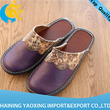 New arrival cow hide slippers over shoes no minimum supplier