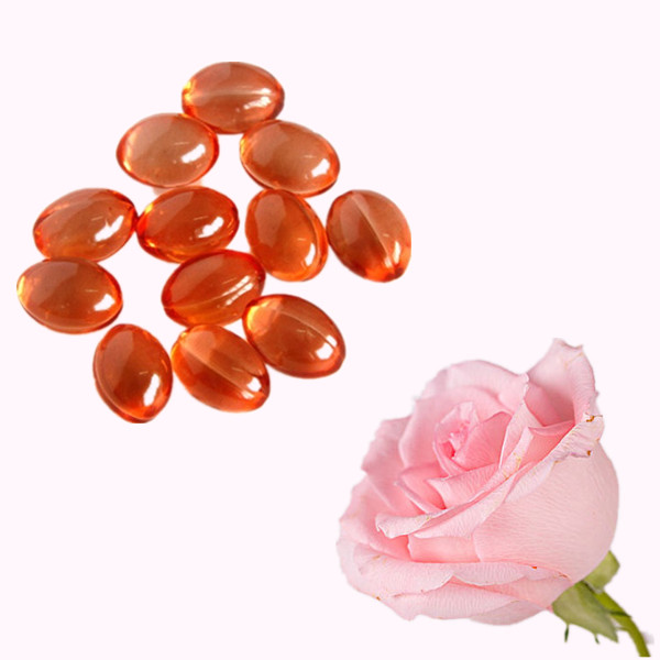 Natural Skin Care Rose Extract Oil Powder Supplement Softgels