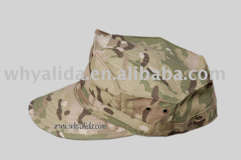 T65/C35 Camo Military Army Blend CP Garrison Cap Twill/Ripstop