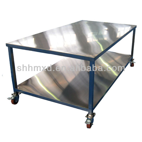 Stainless steel working table for washing factroy