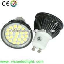 High quality aluminum GU10 LED Spotlights, 24pcs SMD 5050 leds