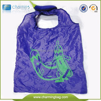 Custom supermarket foldable polyester carry bag