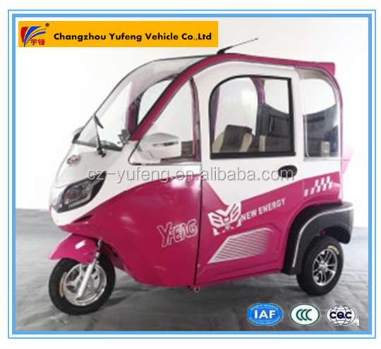 Fancy Covered 3 wheel passenger adult tricycle scooter car