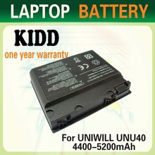 New 4400mAh 10.8v Laptop Battery For Uniwill Advent U40 U40-4S2200-C1M1 U40-4S2200-G1L3