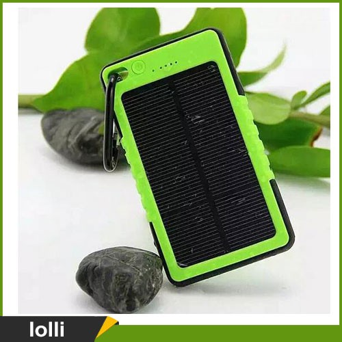 6000mAh Solar Charger, External Battery Water Resistance Solar Power Bank for iPhone 7 6s SE