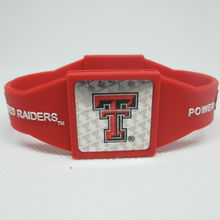 custom the college team logo silicone bracelet/Texas tech Red raiders/Sports fans power silicone bracelet