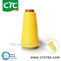 recycled cotton/polyester yarn for sock