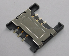 PUSH PULL STEADY PERFORMANCE SMT SIM CARD CONNECTOR FOR MOBILE