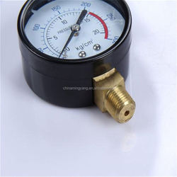 Durable Light Weight Easy To Read Clear bourdon tube pressure gauge for water pressure y-50z