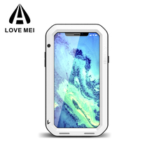 2017 Newest Design for iphone X LOVE MEI metal and silicone waterproof mobile phone case for iPhone x 8 8 plus case