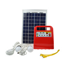 pay as you go portable DC solar kits 10w 20w 30w solar lighting system with radio mp3 for Africa market