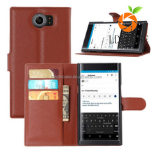 Mobile Phone Case for Blackberry Priv Leather Flip Phone Case