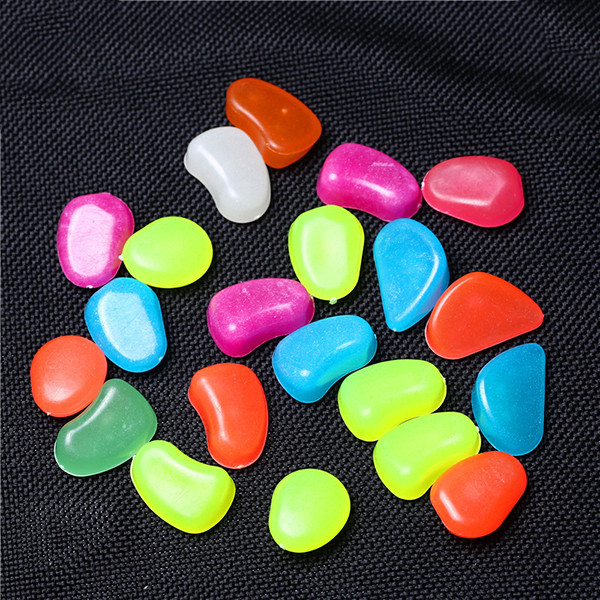 Colorful Man-made Pebbles Luminous Stone, Night Light Stones for Garden Walkway Decorative
