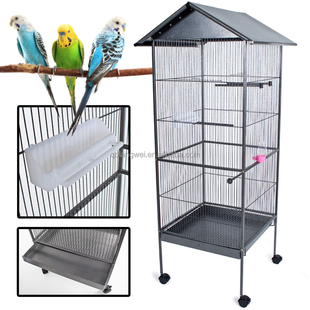 rolling animal cage /Bird breeding cages/ wholesale wire parrot bird cages