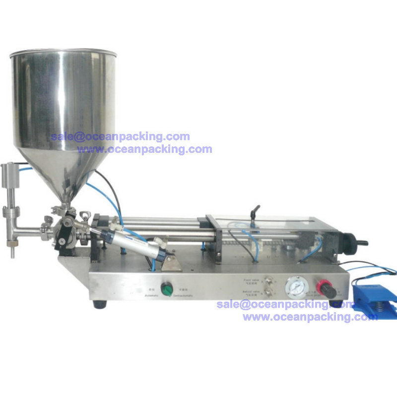 Low price best selling piston jam filling sealing machine