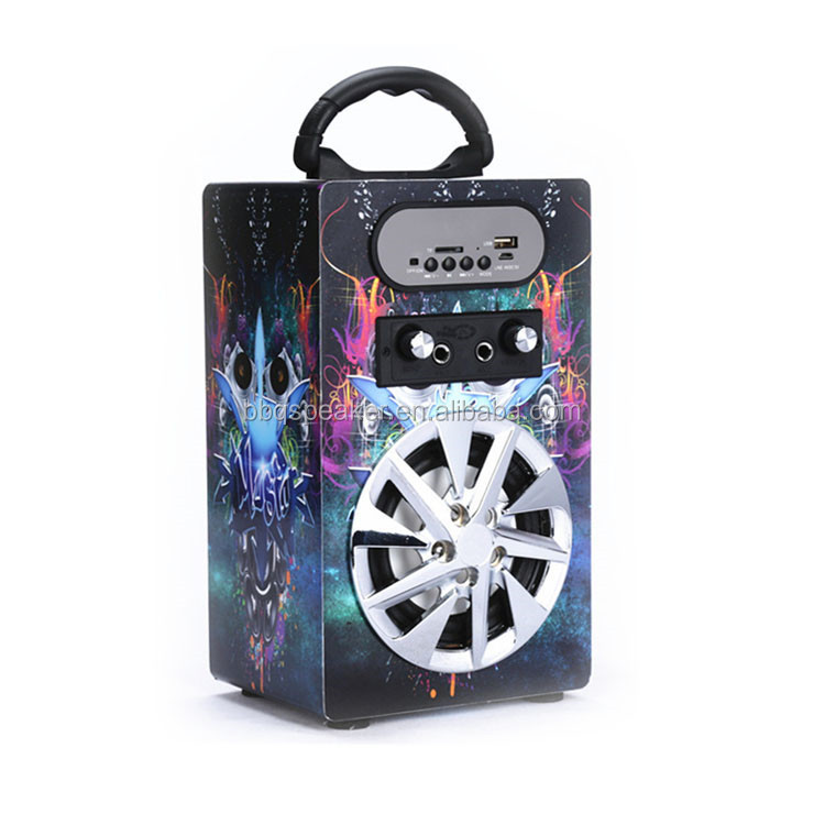 KBQ-10 rechargeable FM radio portable mini speaker sound box