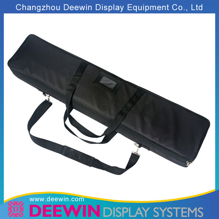 Fully Open Black Nylon Thicken Paddy Bag for Wide Base Roll Up Banner
