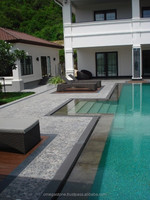 Outdoor Swimming Pool Tiles: Green Sukabumi Stone