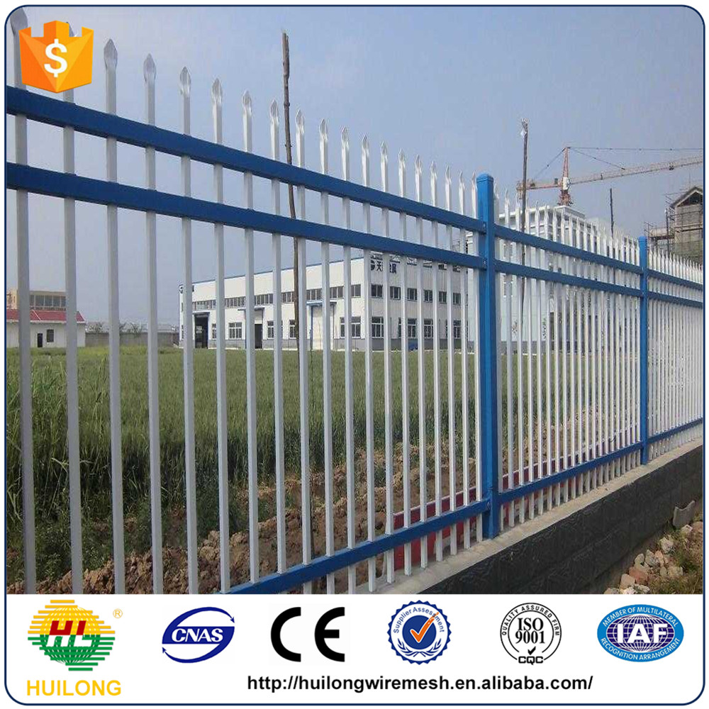 economic prefabricated steel fence, steel picket fence, cheap fence panels