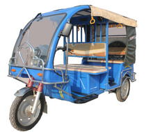 Electric Driving Type Battery Powered 3 Wheeler Tricycle Rickshaw for Passenger Use