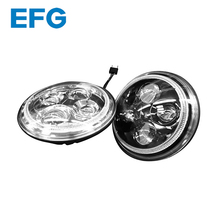 Emark Approved High Low Beam 7 inch Round LED Headlight Motorcycle With Good Light Pattern