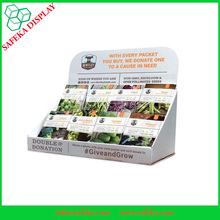 Paper Counter Display Table Plant Seed Display Rack