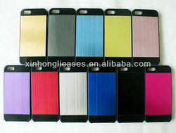 For iPhone 5'' case cover, luxuy brushed metal case for iPhone 5
