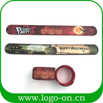 Halloween Wholesale Custom Silicone Slap Bracelets - New blank slap bracelet