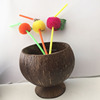 Nature Coconut Cup With Flower Plastic