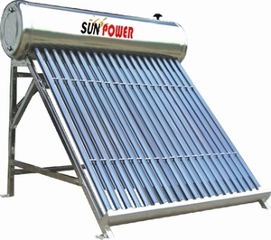 Low Pressure System Solar Energy Water Heater