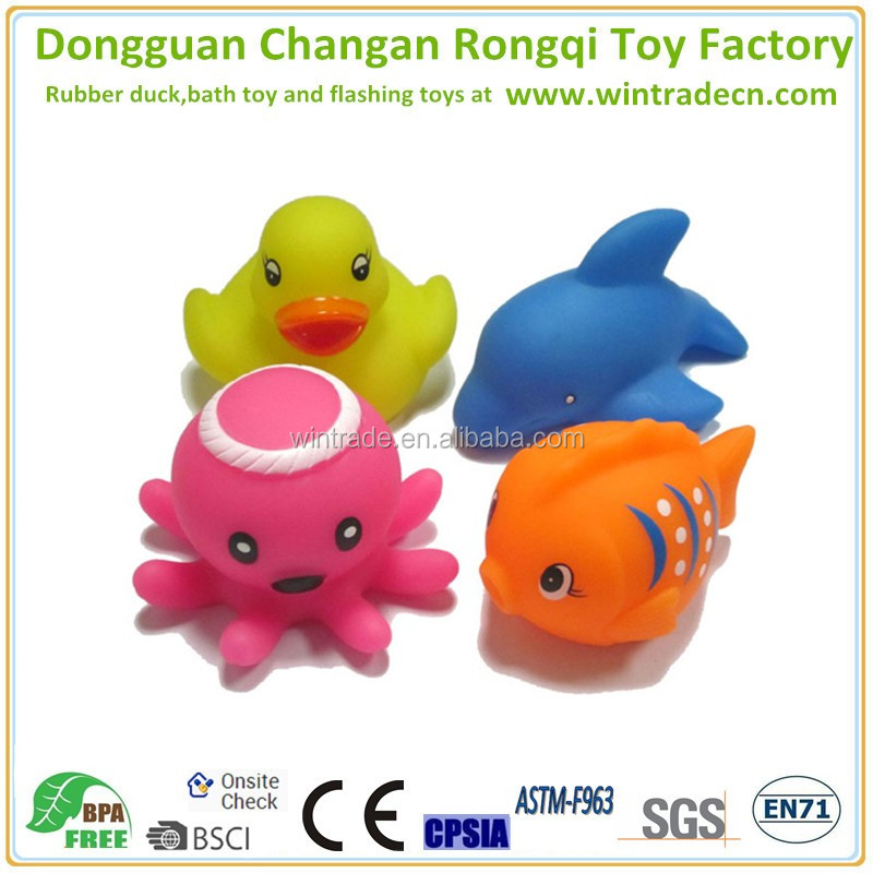 CE certificated custom make rubber water squishy squeeze toy for kids