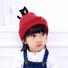 Fashion children's cartoon bear winter hat/Core-spun yarn warm cap