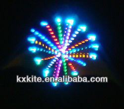 chinese night flying led light kite