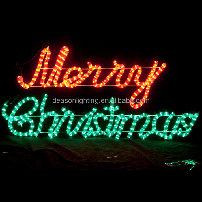 led lighted merry christmas sign