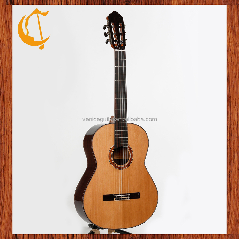 inlay wood guitar China made brand all solid classical guitar