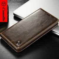 Caseme Flip Wallet Leather Cheap Mobile Phone Case Cover For LG V10 Free Screen Protector
