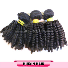 Spiral Curly Peruvian virgin human remy hair, top quality hair bundles , double weft hair weft/hair extension