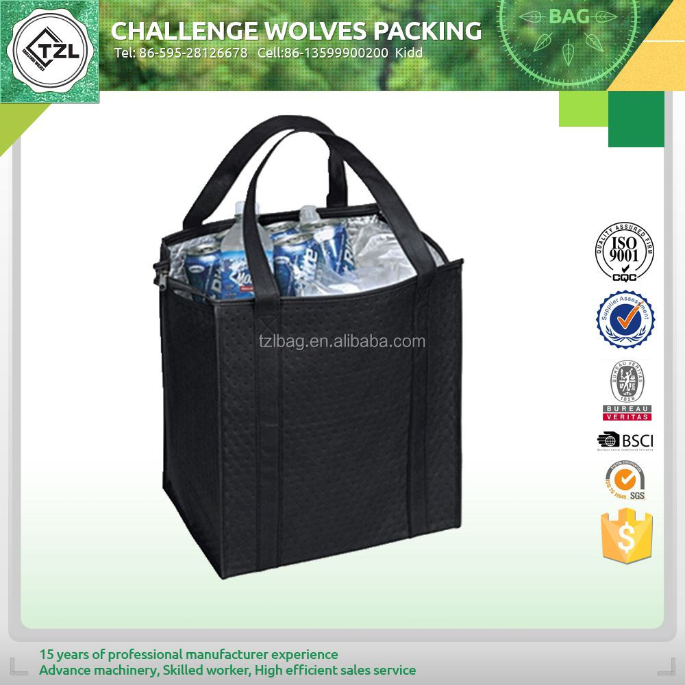 Eco-friendly disposable insulated lunch cooler bag