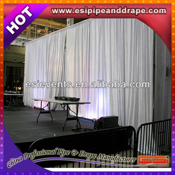 ESI cheap flame retardant pure white chiffon fabric for backdrop event