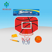 Custom middle size assemble plastic basketball board and hoop set toys for children