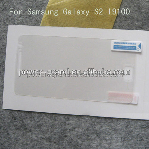 Super clear PET Screen protector film for Samsung Galaxy S2 I9100 S III S3 I9300 S3 Mini I8190 S4 I9500 S4 Mini I9190 etc.