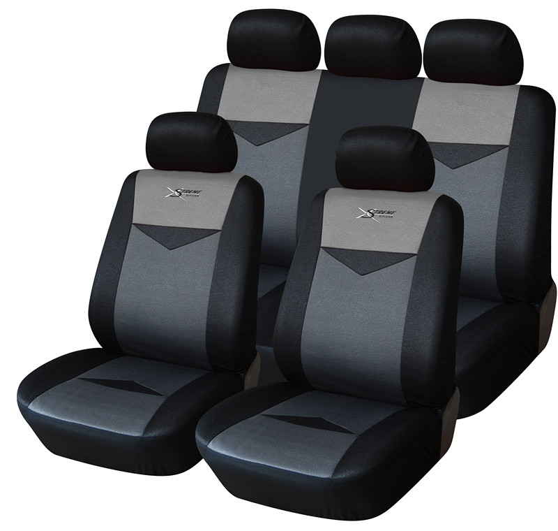 Black gray Sports cute car seat covers