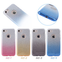 Fashion Gradient Glitter Shockproof Rugged PP+TPU Case for iPhone 7,for iphone 7 Protective Cover