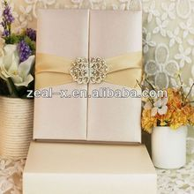 Luxury silk box wedding invitations wholesale