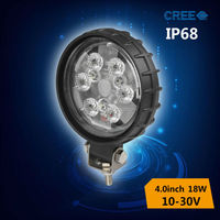 commercial electric led work light 18w for motorcycle off road