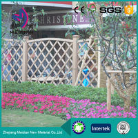 Multi-function wpc small garden fence cheap wooden fence panels